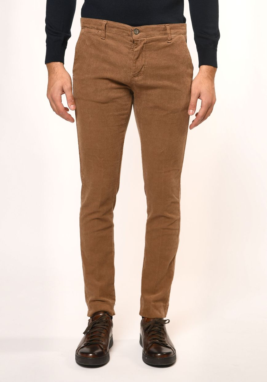 Pantalone velluto mille righe