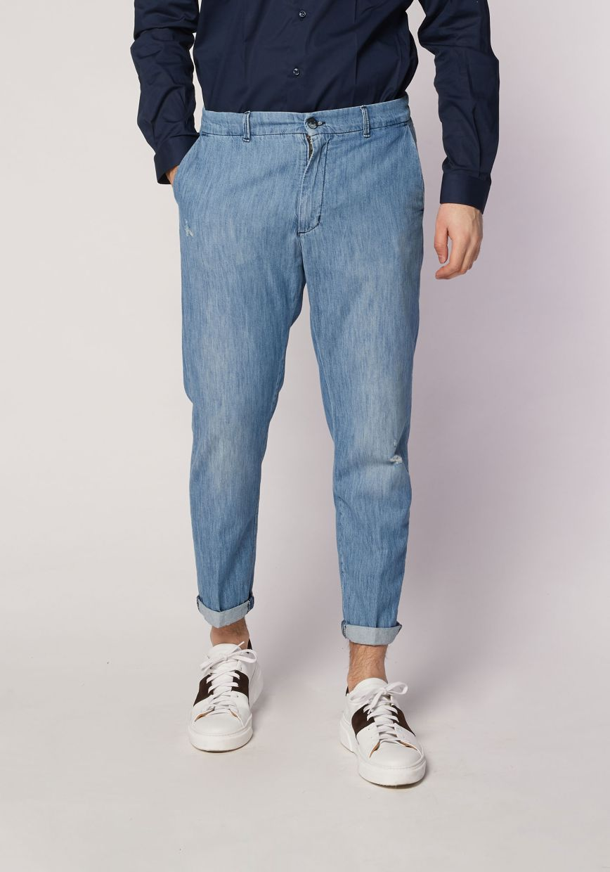 Jeans chino's chambray