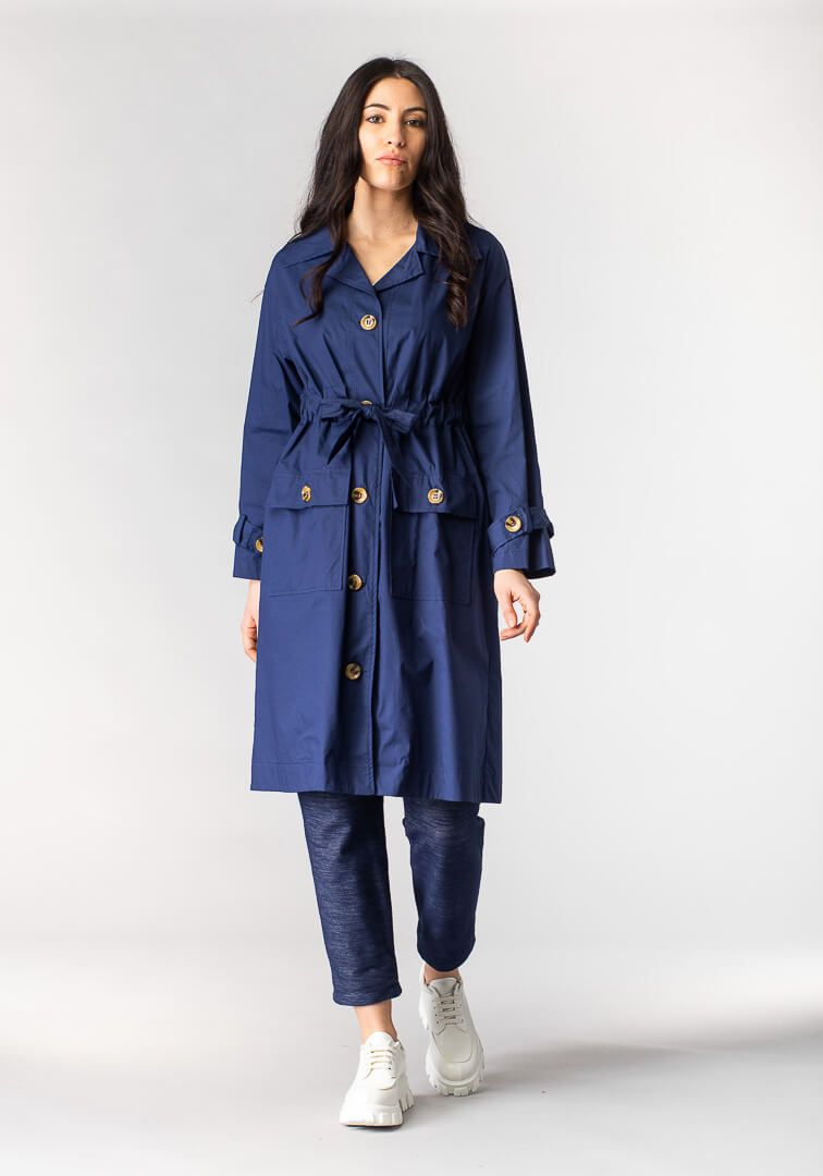 TRENCH COULISSE Azzurro